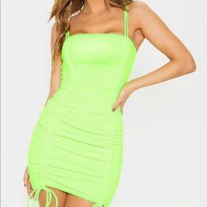 PLT Neon Green Dress